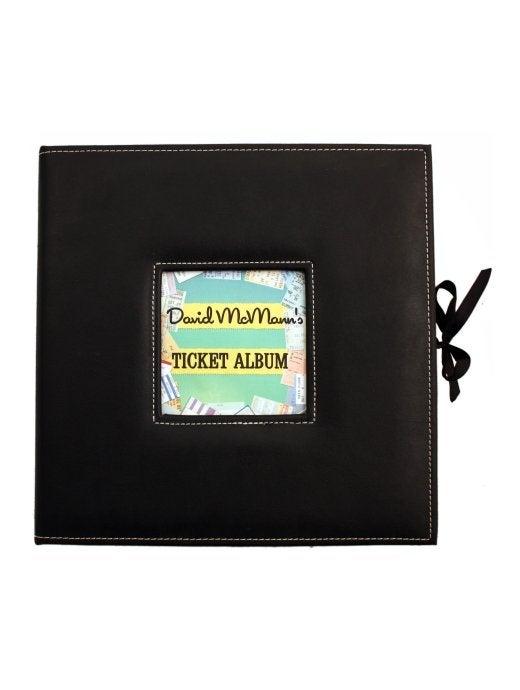 Ticket albums custom keepsake ticket box for 1 1 2 box auto