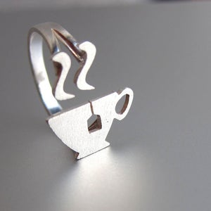 Image of Afternoon Tea (Cup) Ring - Handmade Silver Ring