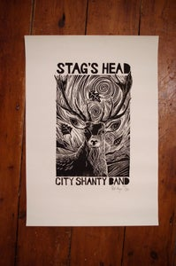 Image of Stag Head/CSB A2 Linocuts