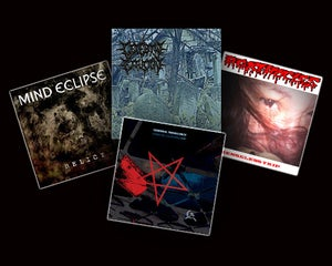 Image of MIND ECLIPSE,AGATHOCLES,CEREBRAL TURBULENCY,CEREBRAL EFFUSION/OFFALMINCER