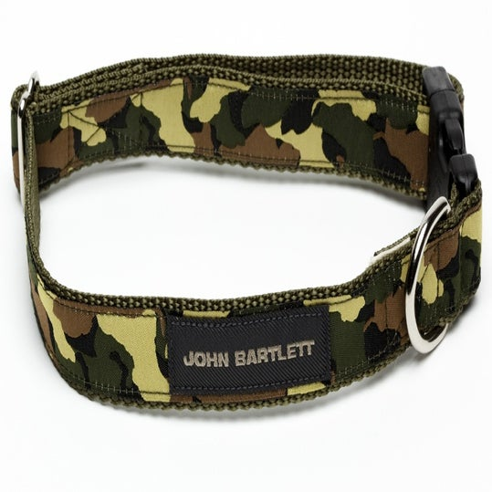 Image of olive tiny tim camou dog collar