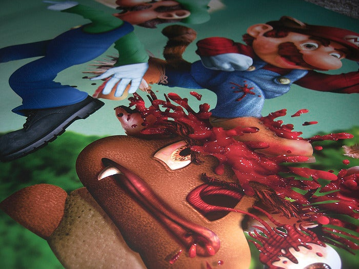 Image of Mario Bros 8 bit fatality Print