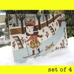 Image of Greeting card WINTER -set of 4-