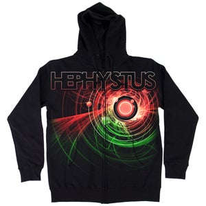 Image of Hephystus Zip Hoodie (red/green)