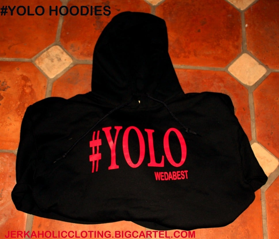 Image of  YOU ONLY LIVE ONCE HOODIES  BLACK /RED #YOLO HOODIES