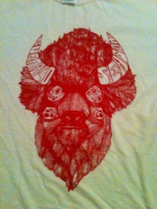 Image of Buffalo Season Bailey Layne T-Shirt (Red on Natural)
