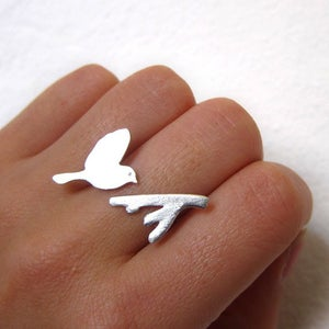 Image of Flying Bird - Handmade Silver Rings