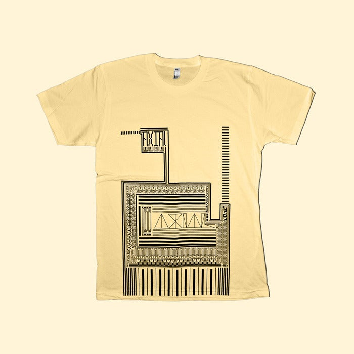 Image of A X(10) Is Always Limiting - Retro Pattern Tee (lemon)