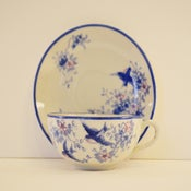 Image of Set of 6 Bluebird Tea Cups & Saucers