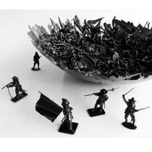 Image of War bowl: English Civil War : BLACK LIMITED EDITION