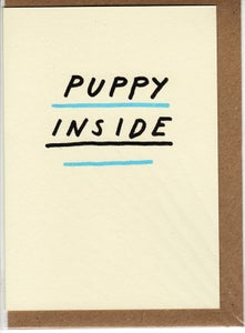 Image of puppy inside card