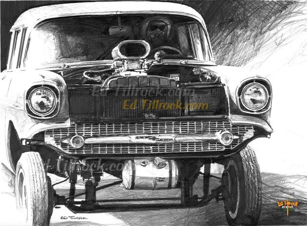 "Image of ""57 Gasser"" 11x17 print"