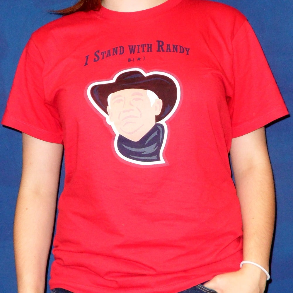 """Image of Red """"Stand with Randy"""" Shirt"""