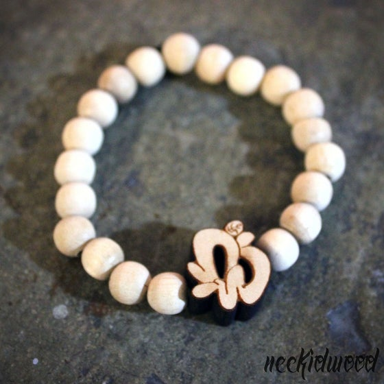 Image of Neckidwood Retro Logo Bracelet