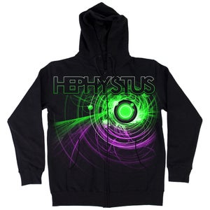 Image of Hephystus Zip Hoodie (purple/green)