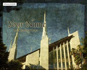 Image of Las Vegas Nevada LDS Mormon Temple Art 003 - Personalized LDS Temple Art