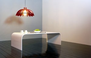 Image of White Acrylic Coffee Table