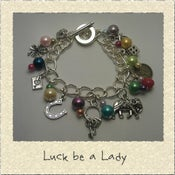 Image of 'Luck be a Lady' Lucky Themed Charm Bracelet