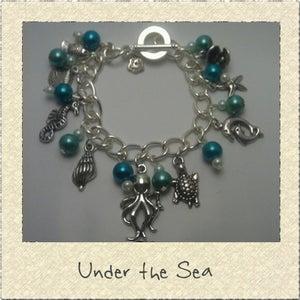Image of 'Under the Sea' Ocean Themed Charm Bracelet