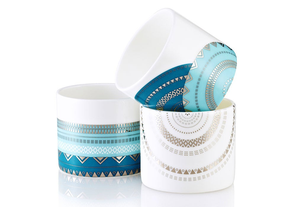 Image of Tea Light Vessels - Set of 3 (Stella Collection)