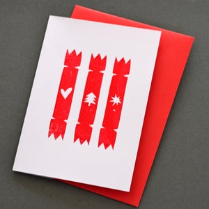 Image of FIVE CRACKERS CHRISTMAS CARDS