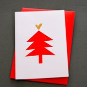 Image of FIVE CHRISTMAS TREE CARDS