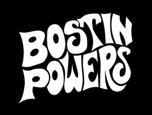 Image of Bostin Powers Design - Black, available as Tee Shirt and Poster