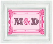 Image of Personalised initials print