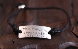 Image of The force is strong with this one... Bracelet