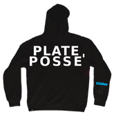 Image of Plate Posse' Hoodie: Black/ White