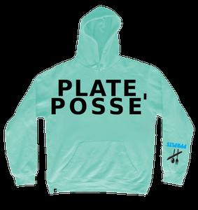 Image of Plate Posse' Hoodie: Aqua/ Black