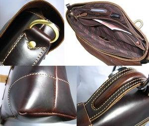 Image of Handmade Genuine Leather Briefcase Messenger Laptop Bag for Gentlemen - TREASURE (n361)