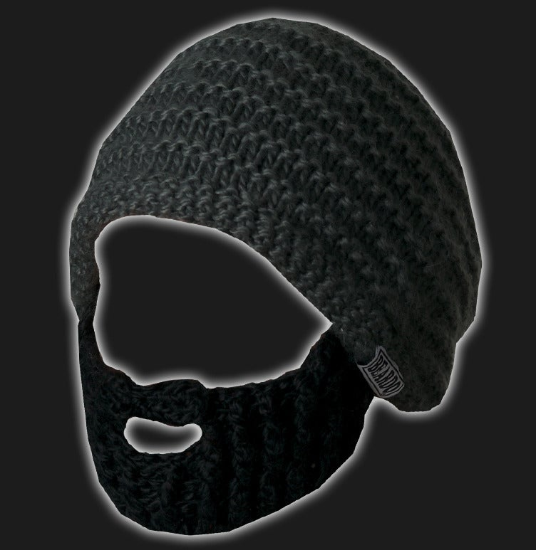 Image of Beard Hat (Dark Grey- Black Beard)