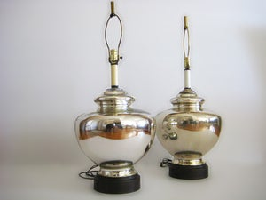 Image of Vintage Mercury Glass Lamps