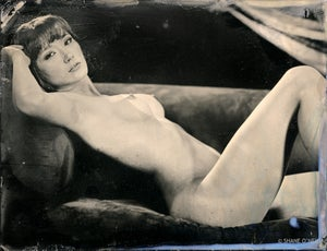 Image of Reclining Nude #1 Print from Tintype
