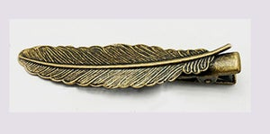 Image of Barrette pince ... Plume