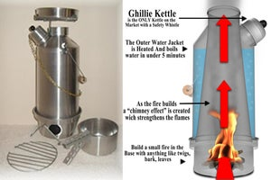 "Image of Ghillie Kettle 1.5 liter - Adventurer ""COMPLETE KIT"""
