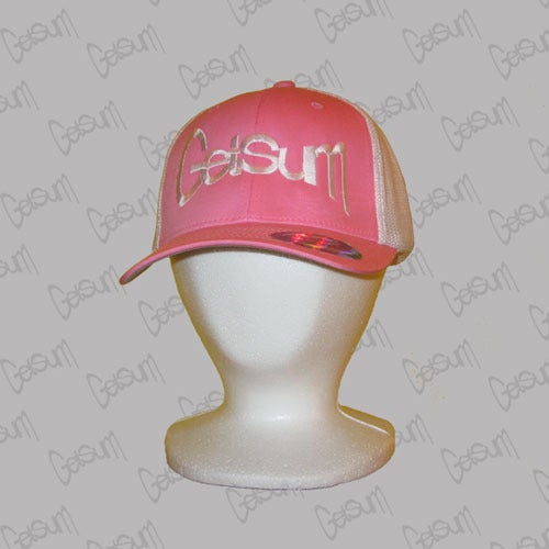 Image of Big Logo Pink Trucker Mesh