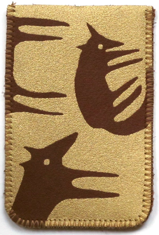 Image of Gold Foxes Card Holder