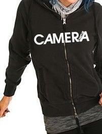 Image of Camera Can't Lie - Black Logo Hoodie
