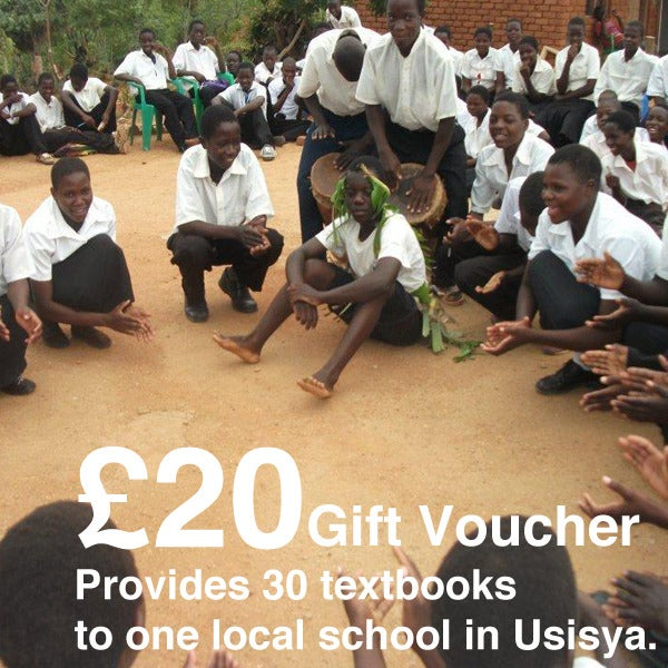 Image of £20 Give-a-Gift Card & Voucher: Provides 30 text books to one local school in Usisya