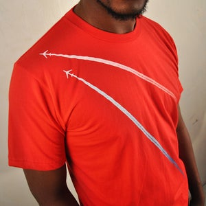 Image of Jumbo Jets fall in love Red T