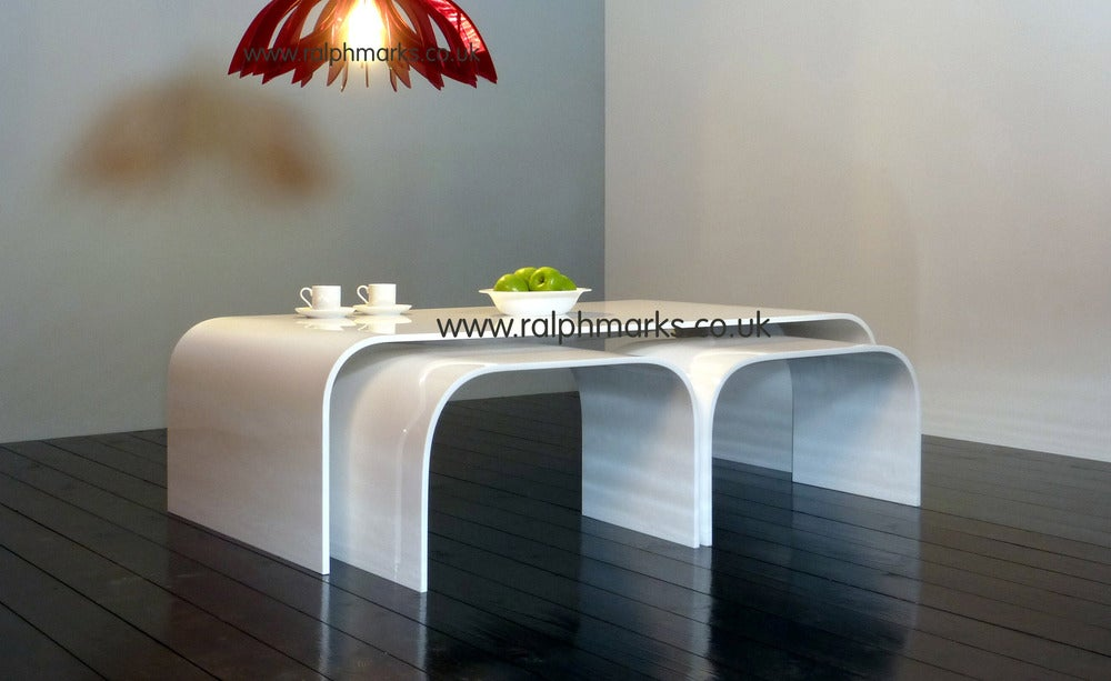 Nice Image Of White Acrylic Side Table