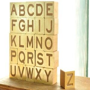 Image of gilded alphabet set