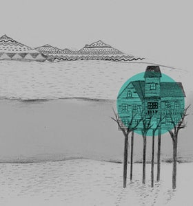 Image of A Place for Us - Illustration Giclee Art Print (teal)