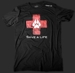 Save-A-Life Men's Vintage Tee - Black