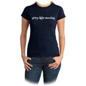 Image of Green Light Morning - Girl T-shirt - Navy