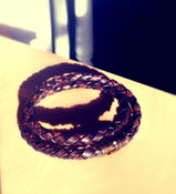 Image of Braided Leather Bracelet with Magnetic Clasp