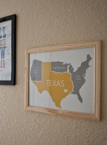 Image of Texas Print