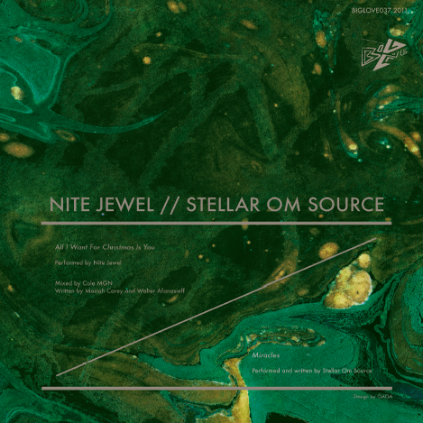 "Image of NITE JEWEL + STELLAR OM SOURCE CHRISTMAS SPLIT 7"""